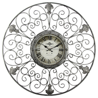 CARVING IRON/WOODEN/GLASS WALL CLOCK