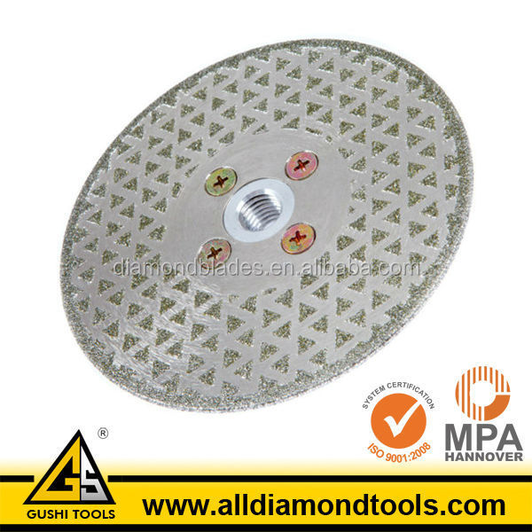 Electroplated Cutting and Grinding Abrasive Blade for Marble
