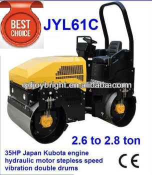 mini road roller compactor,double drum JYL51C,1.8ton,UK engine