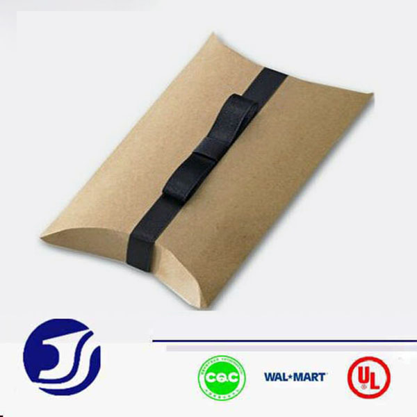 Kraft packaging printed pillow boxes