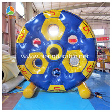 2014 crazy inflatable floating water wheel,inflatable water sports