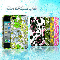 cheap mobile phone case, PC mobile phone case for iphone4/4s with flower deisgn, case for phone