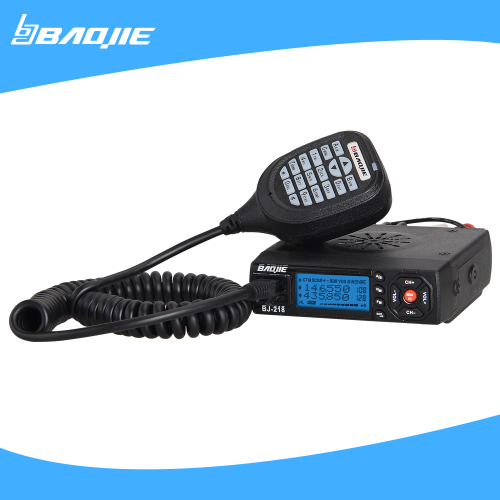 MINI vehicle radio 2 separate receivers 25W dual band BAOJIE BJ-218 moblie radio