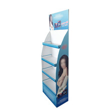 High quality promotional gift cardboard display floor stand with pedestals