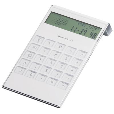 World time alarm clock desk electronic calendar calculator with timer standing desk/office (calculater)calculator