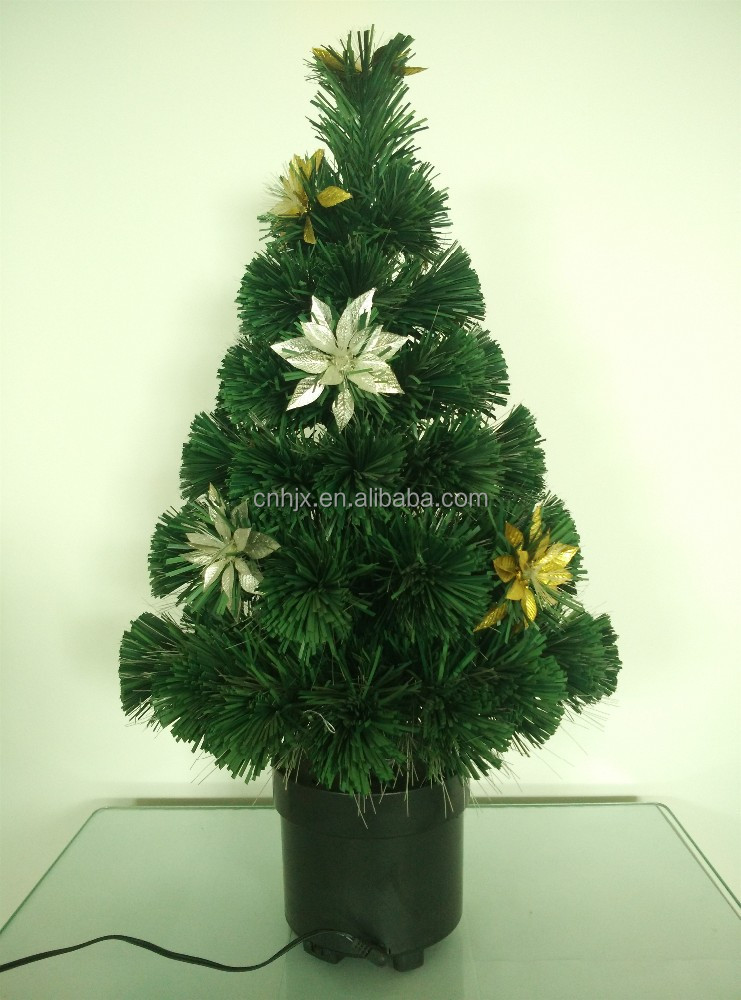 Dancing Decortion Optic Fiber LED Christmas Tree, Large Flower Decor Artificial Christmas Tree