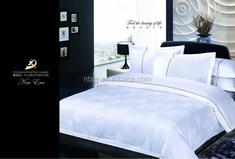 white bed sheet set made by cotton