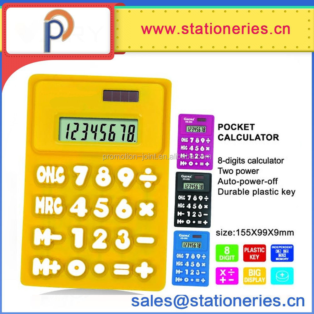 Promotion hot Sales flexible Silicone Rubber Calculator