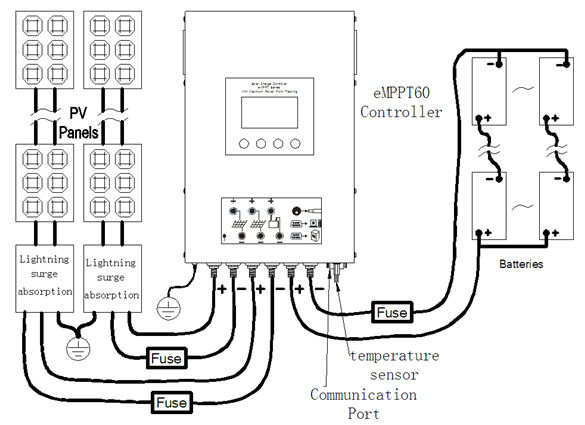 Auto 60a 12v 24v Mppt Lcd Solar Charge Controller