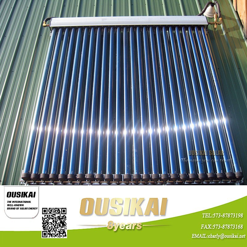 Heat pipe solar collector with high power output