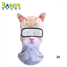 Creative funny 3D animal face mask cycling sports hood balaclava halloween costume headwear