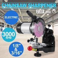 Saw Chain Grinder with Grinding Wheels Chain Grinder 1/8 and 3/16 Inch Electric Chainsaw Sharpener Bench or Wall Mounted