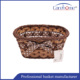 Multicolor rattan flower basket, bamboo rattan storage basket for gift
