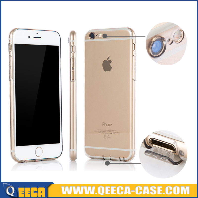 Dust plug & Camera protect soft transparent case for iphone 6 6s plus 6G ultra thin TPU silicone case