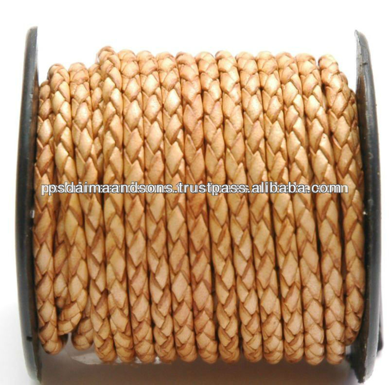 Machine Braided Leather Bolo Cord For Jewelry Making