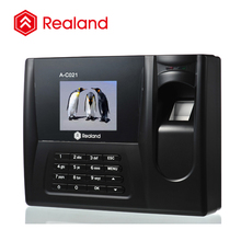 Realand A-C021 biometric device realand fingerprint biometric time attendance system web printer