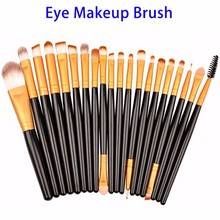 Professional 20pcs Cosmetic Eye Brow Liner Shadow Makeup Brush Set, custom logo makeup brushes, make up brush