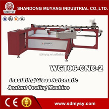 Horizontal auto sealant sealing table with silicone extruder machine for insulating glass hollow glass double glazing