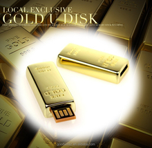 Newest design golden usb flash drive 8GB 16GB Gold Bar USB 2.0 usb Stick