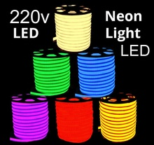 2019 hot sale LED Neon flux PVC IP67 220V low-energy flexible strip light neon lighting domed shape with factory wholesale price