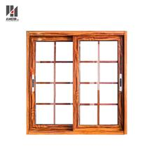 2017 Modern house grills design aluminum sliding window with mosquito net