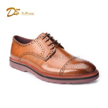 China manufacturer supply eva sole man high quality leather casual derby shoes