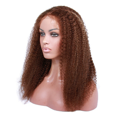 100% Indian virgin hair highlight color full lace wig afro for black women