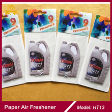 Black ice scent car paper air freshener factory