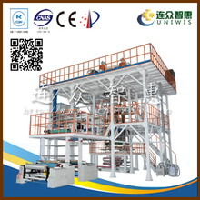 320kg/h output 7 layer down blowing water-cooling extruder film machine