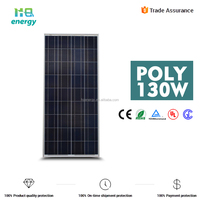 130w thin film pv panel polycrystalline