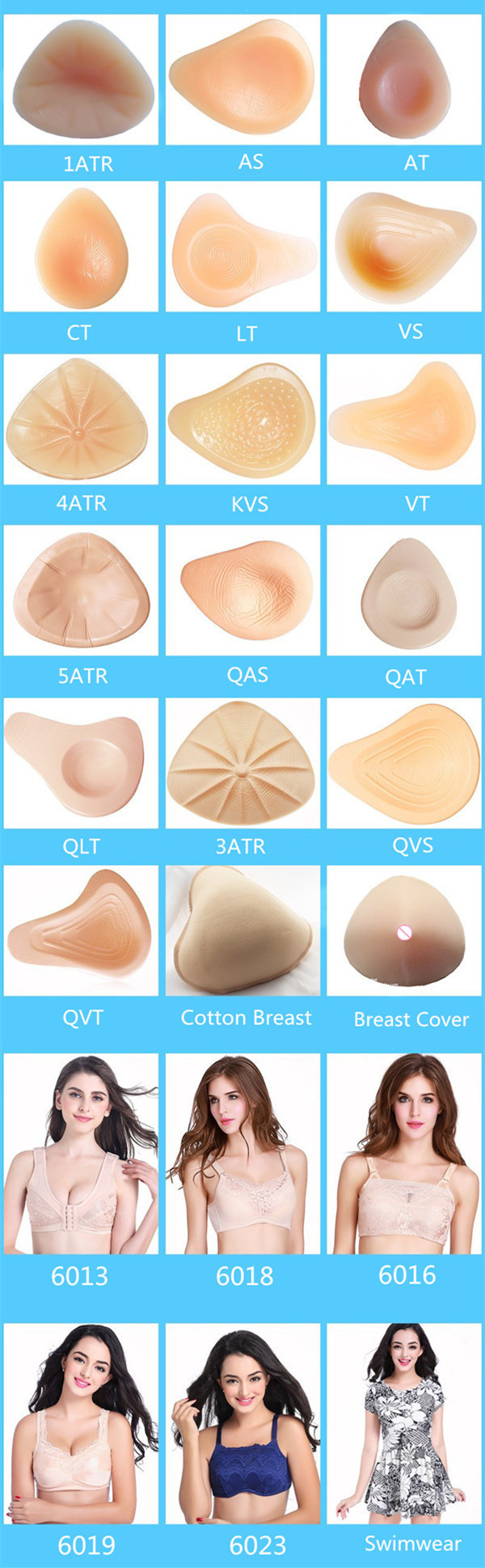 ONEFENG New Design 75-95ABCD Mastectomy Bra Pocket Bra for Breast Cancer Women Silicone Artificial Boobs 6030