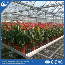 Multi-Span industrial Agricultural Greenhouses Type and plastic coated Cover Material farming growing greenhouse benches