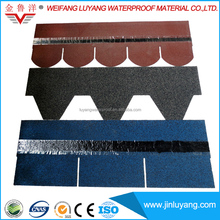 High Quality Building Roof Tile Colorful Fiberglass Asphalt Shingle for Wood House