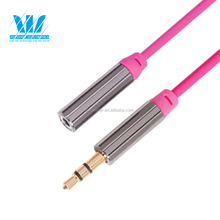 bulk gold plated Female 3.5mm audio aux cable / cords,audio extension cable for stereo car audio