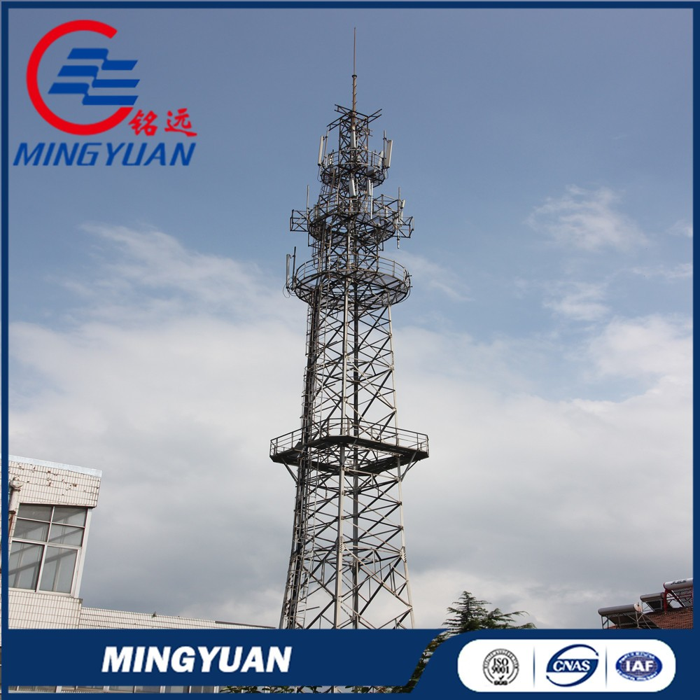 High quality assured ISO certificate galvanized self supporting telecom tower