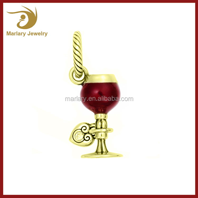 Wholesale Cute Sexy christmas Charms Stainless Steel Wine Jewelry Charm