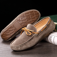 2016 latest design man falt sole genuine leather slip on shoes loafers wholesale