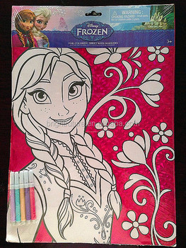 FROZEN : FOIL COLORING SHEET WITH MARKERS