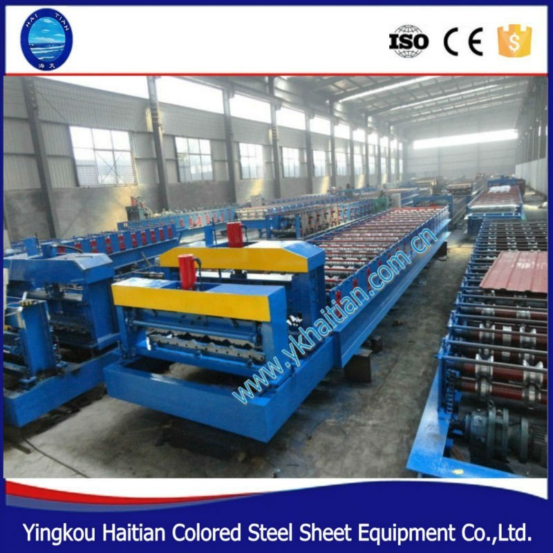 Automatic Color Steel Glazed Roof Tiles Making Machines