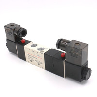 Air Pneumatic Solenoid Valve 4V230C-08 AC220V Double Head 3 position 5 way