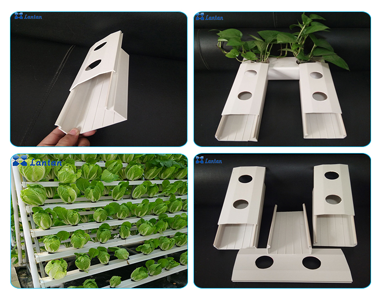 New Type 100x50mm hydroponic system PVC nft pipe for Greenhouse lettuce plant