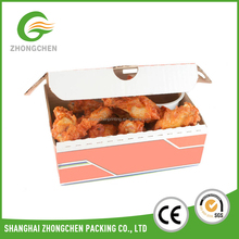 Wholesale custom take away cake paper cupcake packaging box with handle