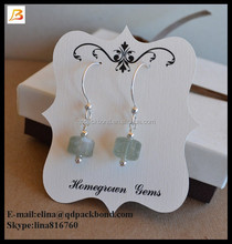Best selling custom printed necklace earring cards / paper jewellery display card