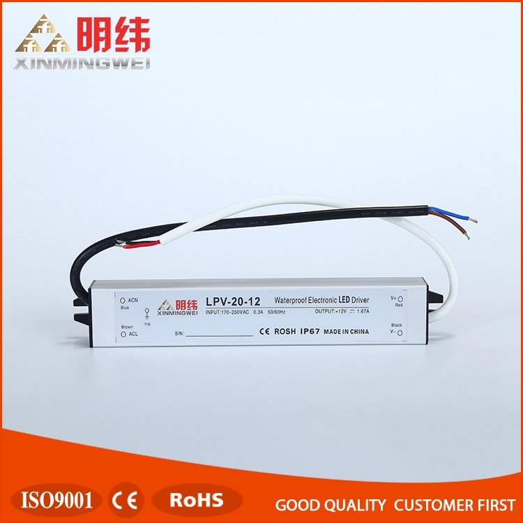 Promotion Original LPV-20-12 IP67 Waterproof outdoor led power supply 20w 12v
