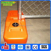 Galvanized temp fence panel with plastic feet
