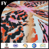 2016 Custom digital print 80% polyester 20% spandex fabric