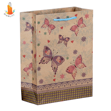 2016 custom recycled paper bag/paper packaging bag for shopping and gift