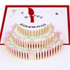 Factory Supplies Cake Birthday Cards Creative 3D Stereo Hand-made Hollow Cupcakes with envelope