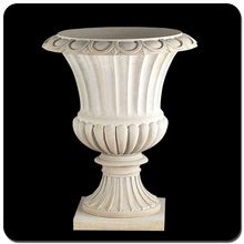 Garden decorative chinese cheap natural stone pot marble flower pots