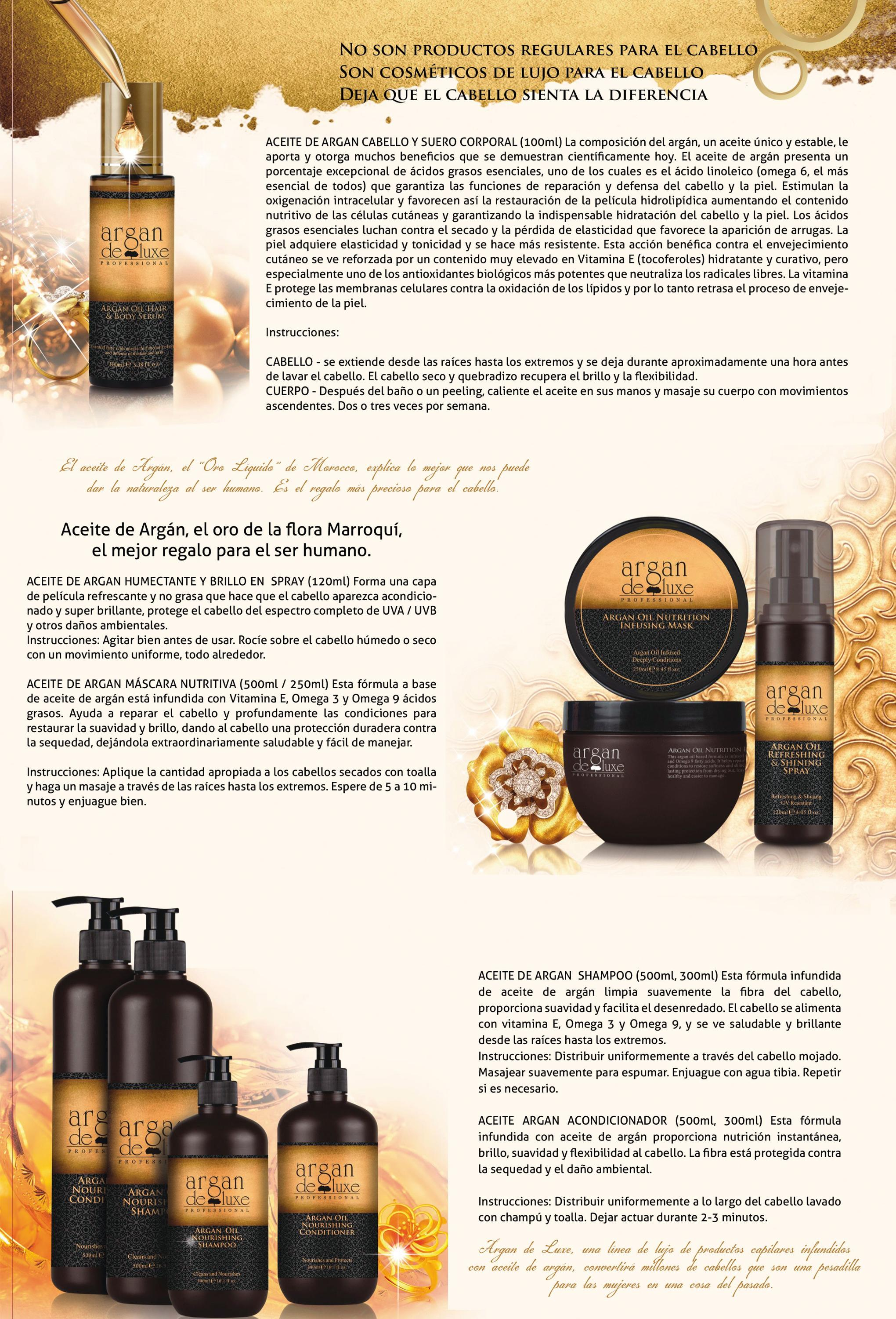 New Original Argan Deluxe shampoo champu argan oil